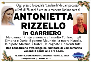 ANTONIETTA RIZZELLO in CARRIERO